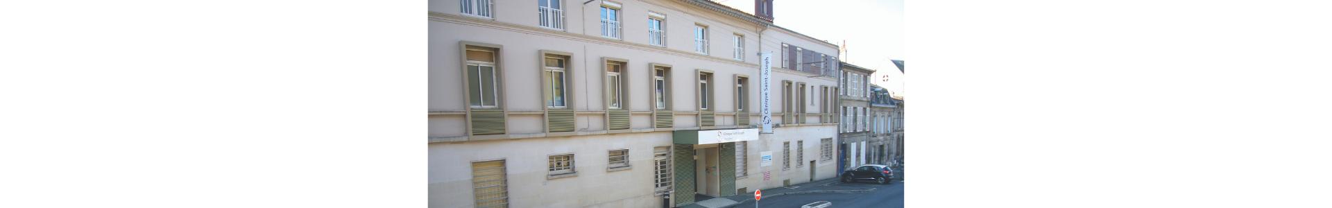 Façade entrée clinique saint-joseph à Angoulême