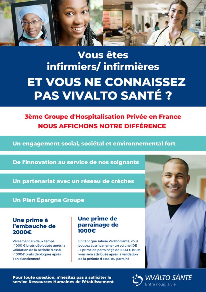 Affiche pour la promotion de la cooptation au sein du Groupe Vivalto Santé
